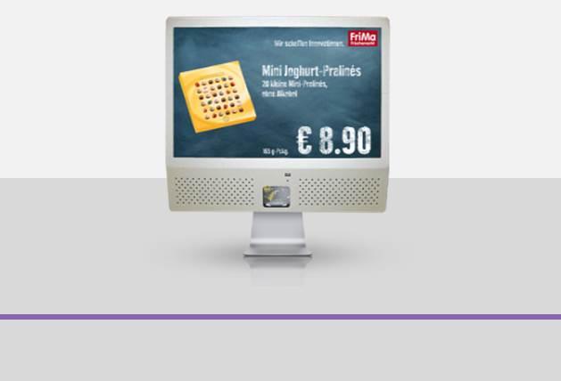 Die interaktiven Digital Signage Systeme der VCR sind zentral administrierbare Mediasysteme für den Point-of-Sales